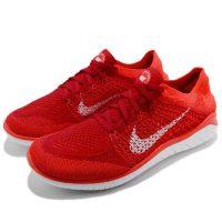 รองเท้าวิ่งสตรี Nike Free RN Flyknit 2018 ราสเบอร์รี่สีแดง